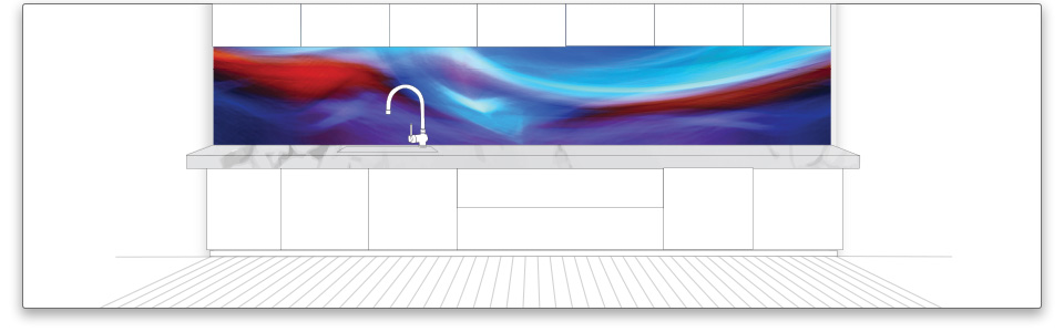 Visual Resource - Printed Glass Splashback -VR Art Glass