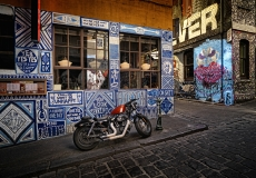 Harley in Hosier Lane