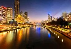 Melbourne Skyline Panoramic A