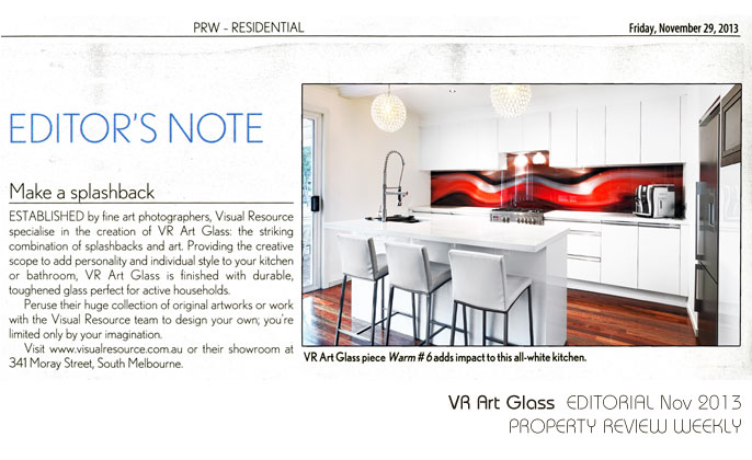 PRW editorial feature - VR Art Glass