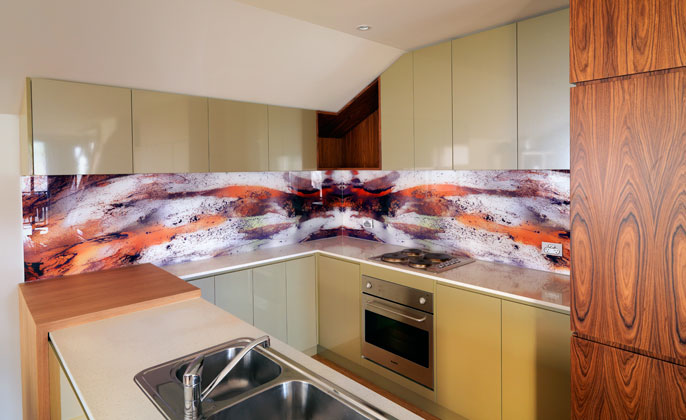 Melbourne Splashback VR Art Glass angle