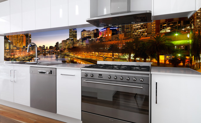 Printed Splashback Melbourne Visual Resource VR Art Glass