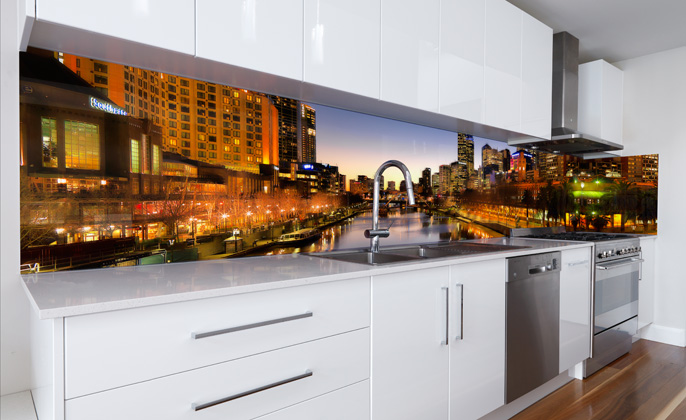 VR Art Glass printed splashback Melbourne