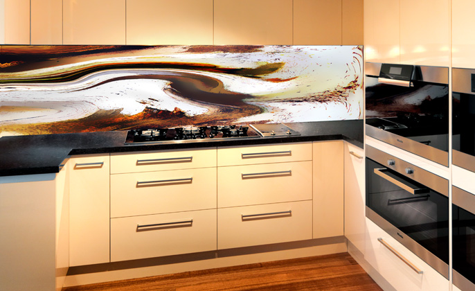 Kitchen Splashback VR Art Glass Elements #11