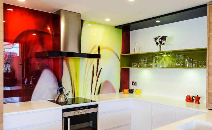 Melbourne Splashback Printed VR Art Glass