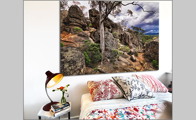 VR Artwork - wall art by Visual Resource - photo art HANGING ROCK by Michael Collins