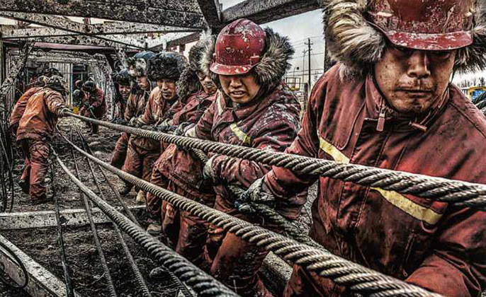 The Drilling Workers Photography by Pang XIANGLIANG