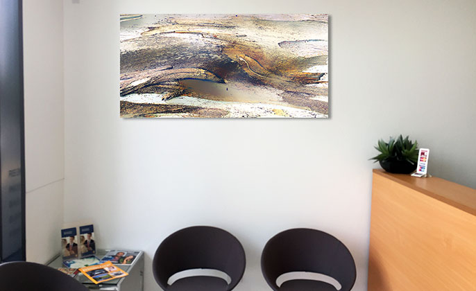 VR Artwork Wall Art for Office Reception NEW ELEMENTS by Visual Resoruce