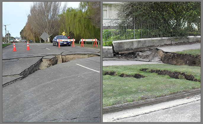 Visual Resource Earthquake Damage Wainoni Christchurch NZ