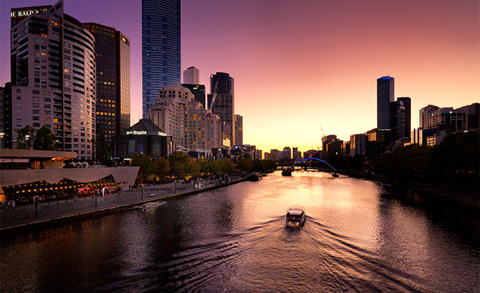 01 Melbourne Collection 4 photo art Melbourne Skyline by Michael Collins for Visual Resource