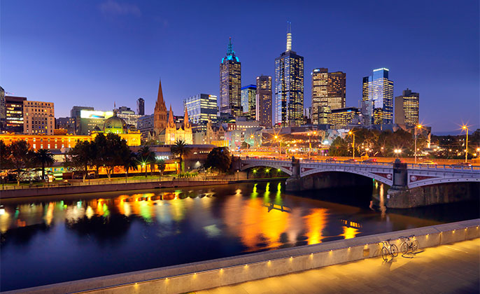23 Melbourne Collection 4 photo art Melbourne Skyline by Michael Collins for Visual Resource