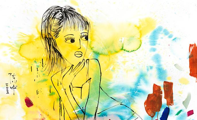 Original Artwork by CHEN ZHONG Girl 1