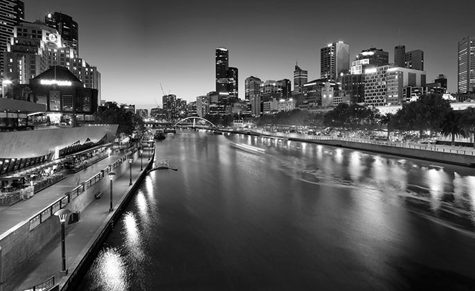 18 melbourne mono photographic image by Michael Collins for Visual Resource.  Black & White Photography