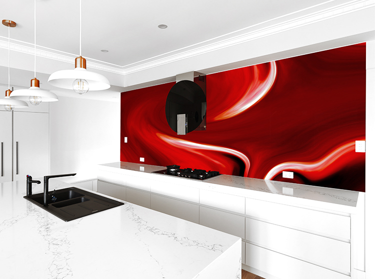 White Kitchen Orange Splashback vr art glass printed glass splashbacks : visual resource : melbourne
