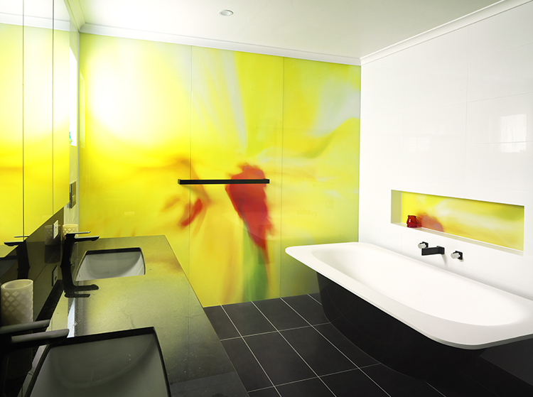 Printed Glass bathroom wall COLOUR SPLASH 7 photo art