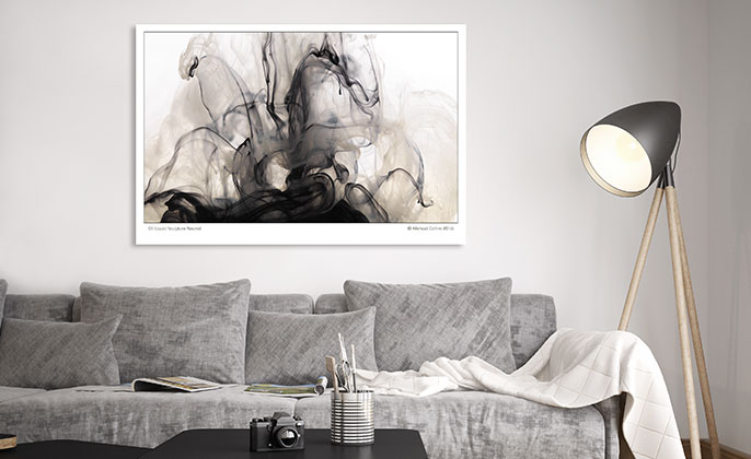 Visual Resource Art Print Photographic Wall Art LIQUID SCULPTURE NEUTRAL 01