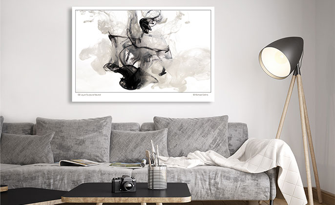 VR ART PRINT Photography Wall Art 02 LIQUID SCULPTURE NEUTRAL by Michael Collins for Visual Resource