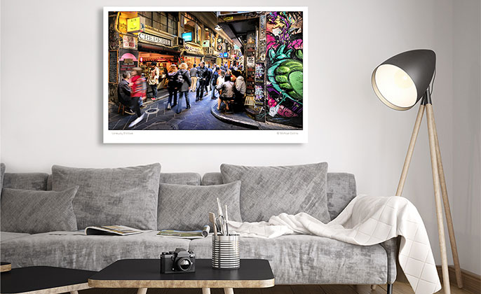 VR ART PRINT Photography Wall Art LANEWAY ENCLAVE Melbourne by Michael Collins for Visual Resource