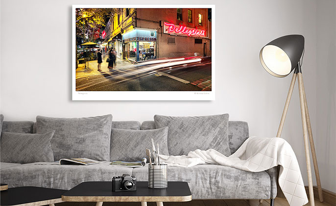 VR ART PRINT Photography Wall Art PELLEGRINIS Melbourne by Michael Collins for Visual Resource