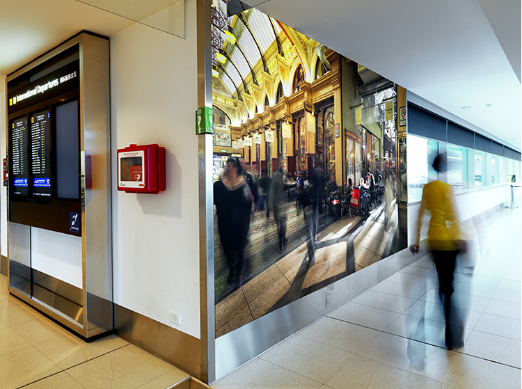 VR Artwork Cafe Duomo Block Arcade MELBOURNE Airport Photography Wall Art by Michael Collins for VR