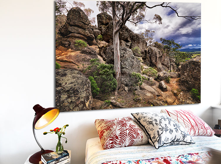 VR Artwork Photography Wall Art HANGING ROCK by Michael Collins for Visual Resource